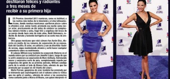 Revista 'Hola' fala sobre prêmio e apresentação de Maite nos PJ