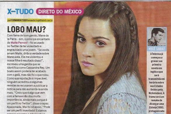 Revista 'Minha Novela' comenta sobre as acusações sob Mane de la Parra