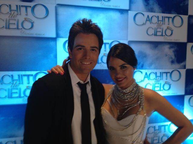 Maite Perroni na apresentação de 'Cachito de Cielo'