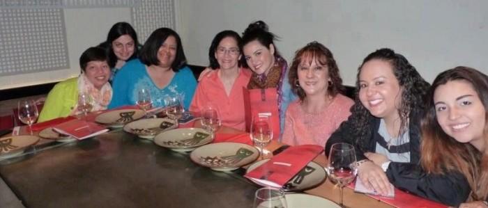 Maite e os fãs Novaiorquinos