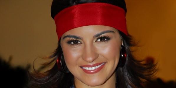 Atualização: Maite Perroni durante as gravações da novela 'Mi Pecado'