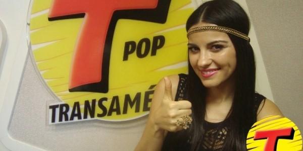 Maite Perroni na rádio Transamérica de São Paulo