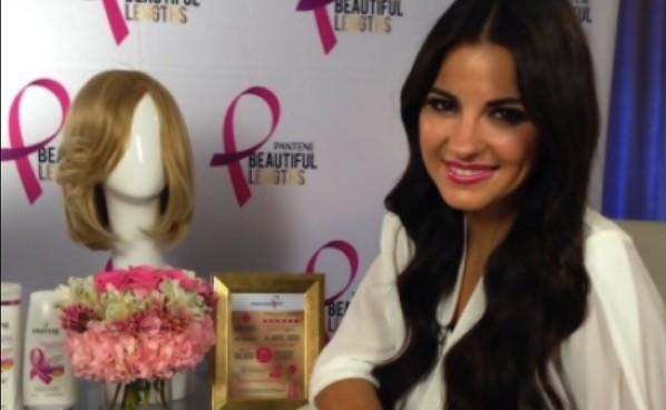 Maite Perroni incentiva mulheres a doarem cabelos para pacientes de câncer