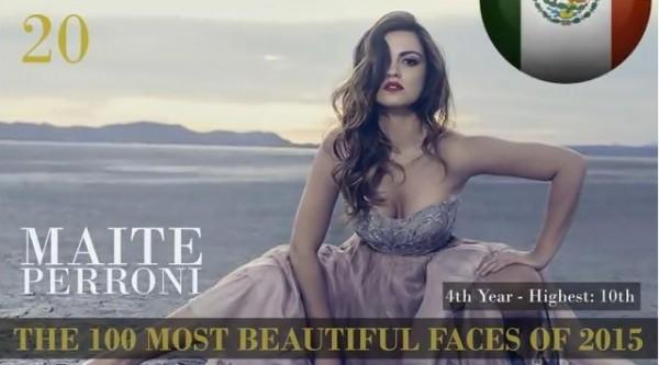 Maite Perroni entre os 100 rostos mais bonitos de 2015