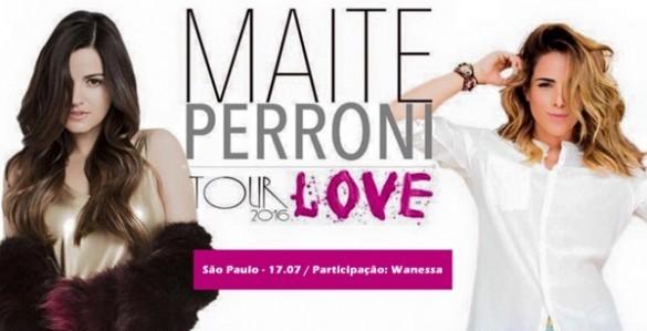 Wanessa Camargo participará do show de Maite Perroni em São Paulo