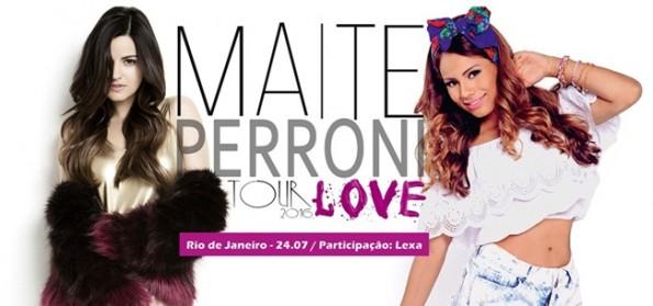 Lexa participará do show de Maite Perroni no Rio de Janeiro