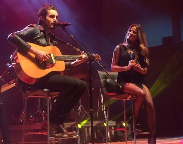 Vídeo: Maite Perroni canta com Tiago Iorc em Curitiba