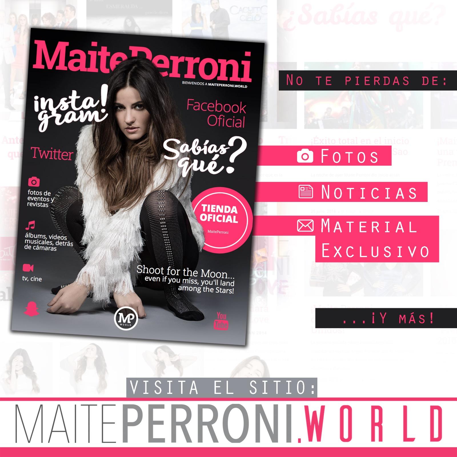 Estrondoso sucesso do novo site de Maite Perroni