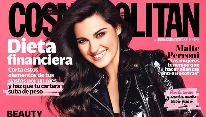 Maite Perroni estampa capa da revista Cosmopolitan México